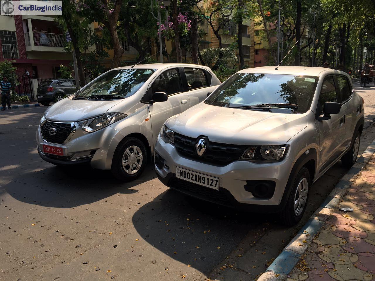 Datsun Redi Go 1000cc Vs Renault Kwid 10 Compare Price Mileage