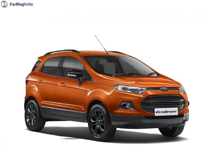 2016 Ford EcoSport Black Edition Orange Front Angle official image