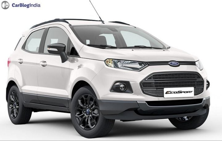 2016 Ford EcoSport Black Edition White Front Angle official image