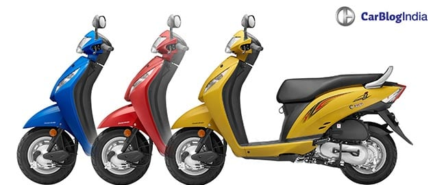 2016 honda activa i price colours