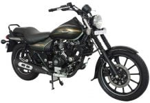 2015 Bajaj Avenger Cruise-220-Matte-Wild-Green-front-three-quarters-images