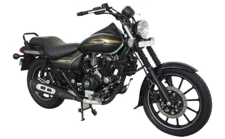 New Model Bajaj Avenger Cruise-220-Matte-Wild-Green-front-three-quarters-images