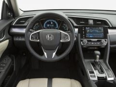 New Honda Civic Diesel India launch in April, 2017. 2016 Civic Interior Steering Wheel Image-2