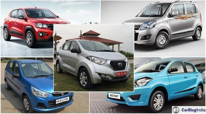 Renault Kwid vs Datsun Redi-GO vs Wagon R vs Alto K10 vs Datsun Go of price, specifications, features, interiors, design, details. Renault Kwid price, specs