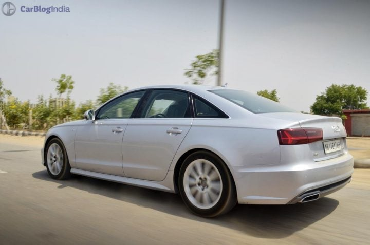 audi a6 matrix 35 tdi test drive review images-rear-angle-action-shot