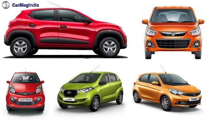 Best Small Cars in India Under 4 Lakhs with Images, Mileage, Specs Kwid, Alto, nano, Redi GO, Tiago