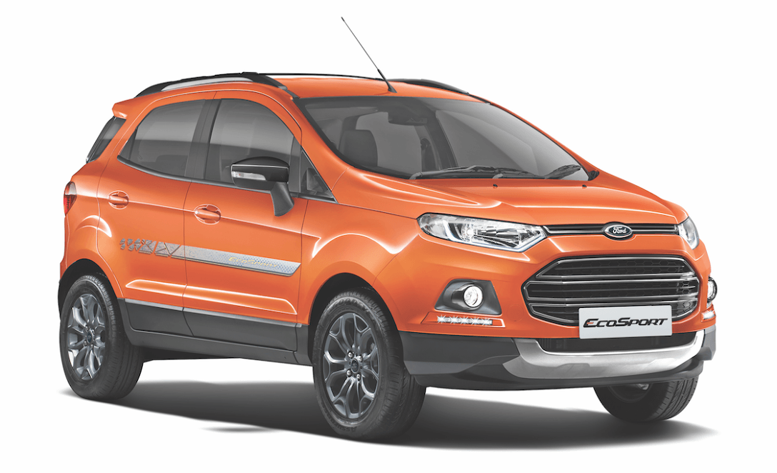 ford ecosport black edition price in india features mileage. Black Bedroom Furniture Sets. Home Design Ideas