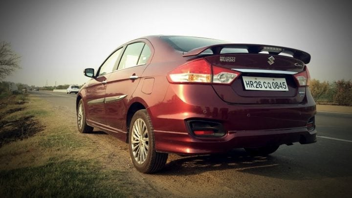 bbest mileage diesel cars in india best mileage cars in india price, specs, images, maruti-ciaz-rs-shvs-rear