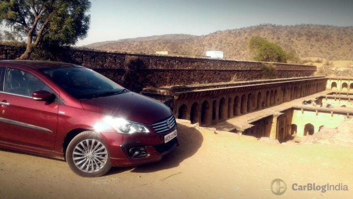 maruti ciaz shvs diesel review images front-section side profile