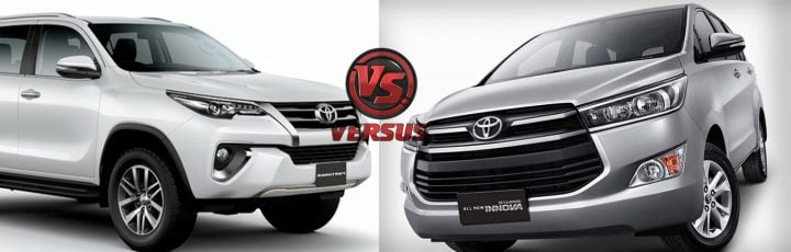 toyota innova crysta vs fortuner