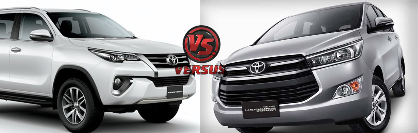 Toyota Innova Crysta vs Fortuner Price, Specifications ...