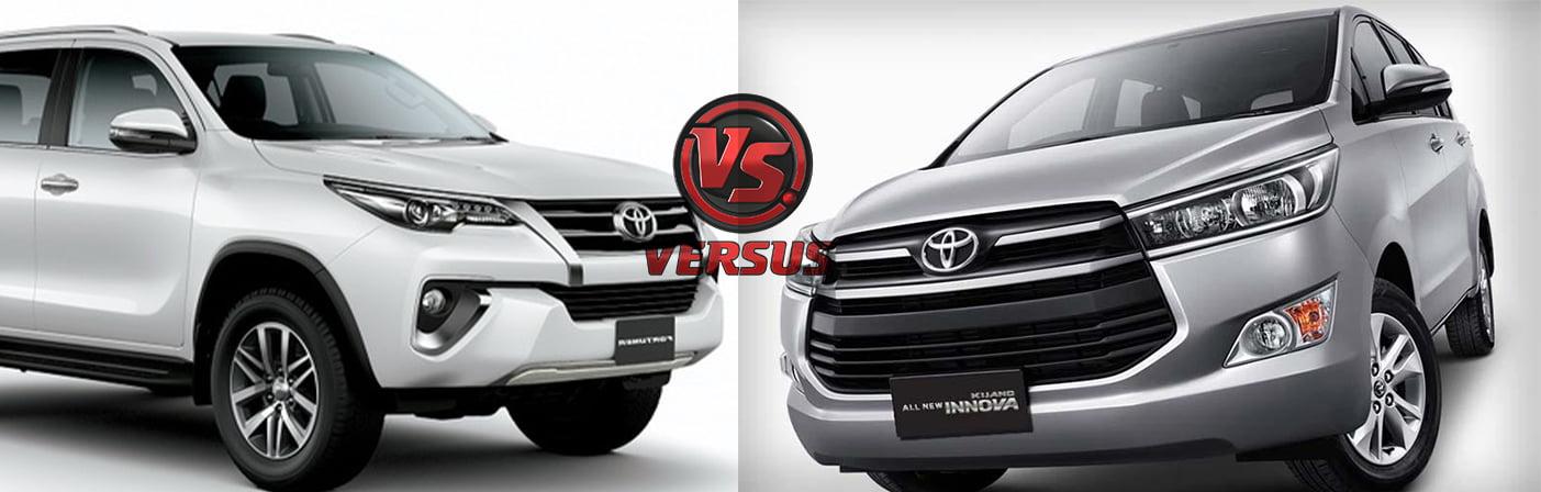 Toyota Innova Crysta Vs Fortuner Price Specifications