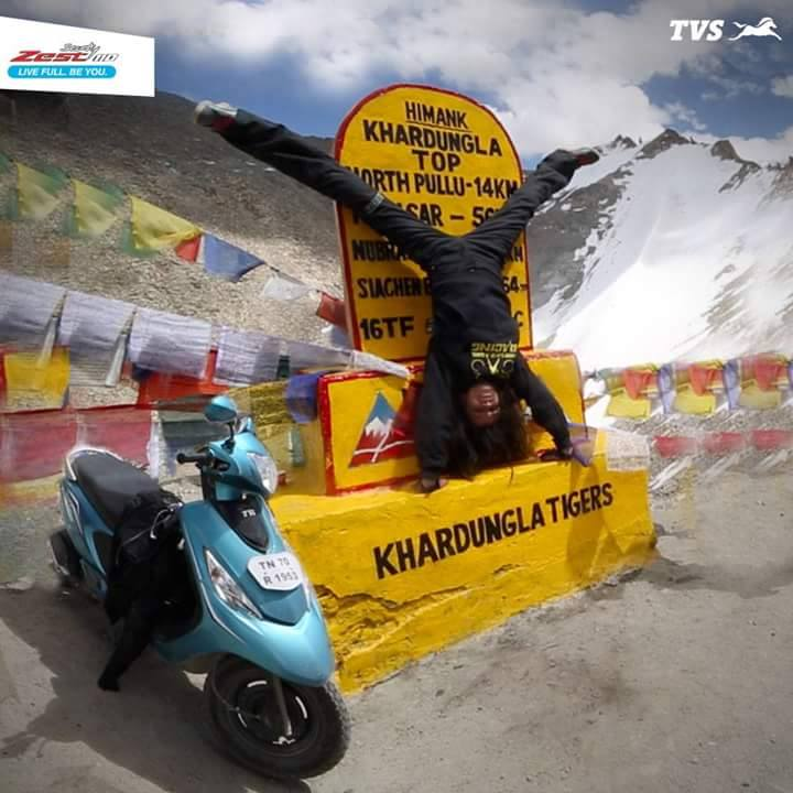 best scooter in india 2017 tvs-scooty-zest-110-himalayan-ride-by-anam-hashim-images- (2)