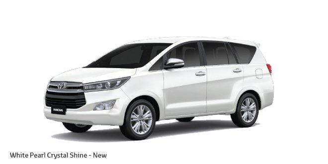 2016 Toyota Innova India White Pearl Crystal Shine Colour
