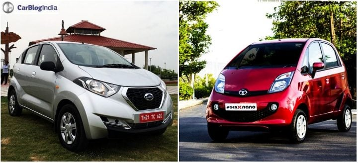 Datsun Redi GO vs Tata Nano GenX Comparison Price, specs, images
