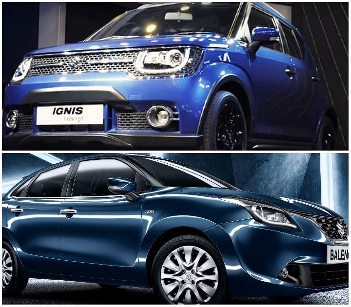 Maruti Ignis vs Baleno comparison
