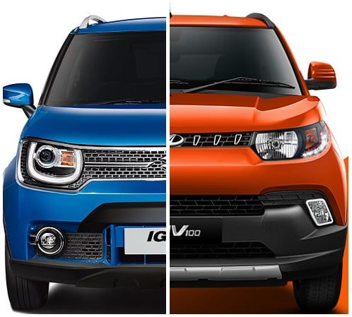 maruti ignis vs mahindra kuv100 comparison