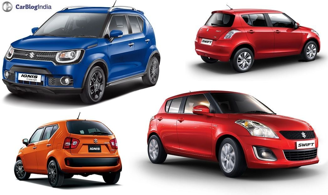 Maruti Ignis Vs Swift Comparison Price Specs Features