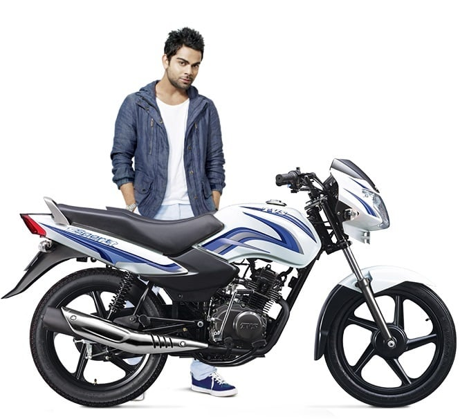 best 100cc bike in india tvs-sport-virat-kohli-official-image