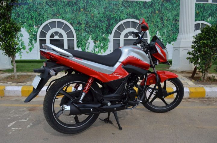 Best bikes Under Rs 60000 - hero splendor ismart 110 test drive review-red-blue-front-angle