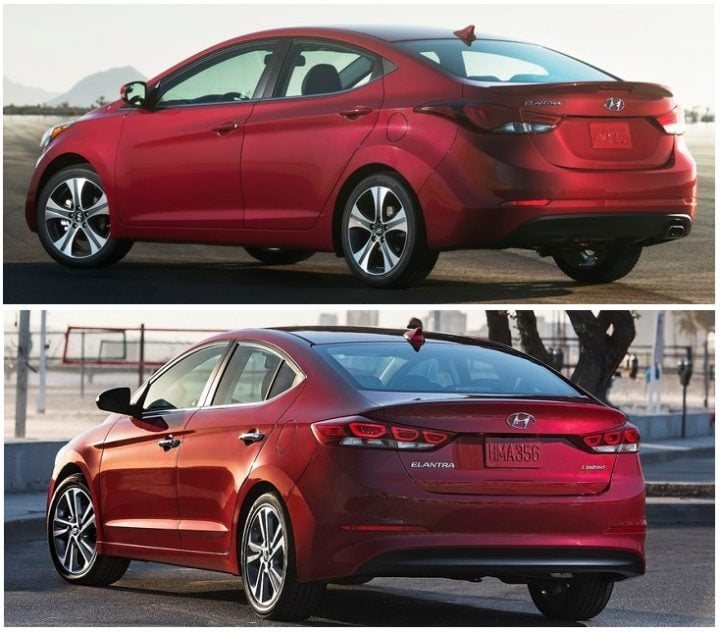 hyundai elantra new vs old