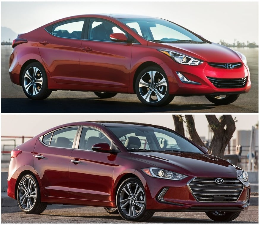 hyundai elantra new vs old model comparison price specification. Black Bedroom Furniture Sets. Home Design Ideas