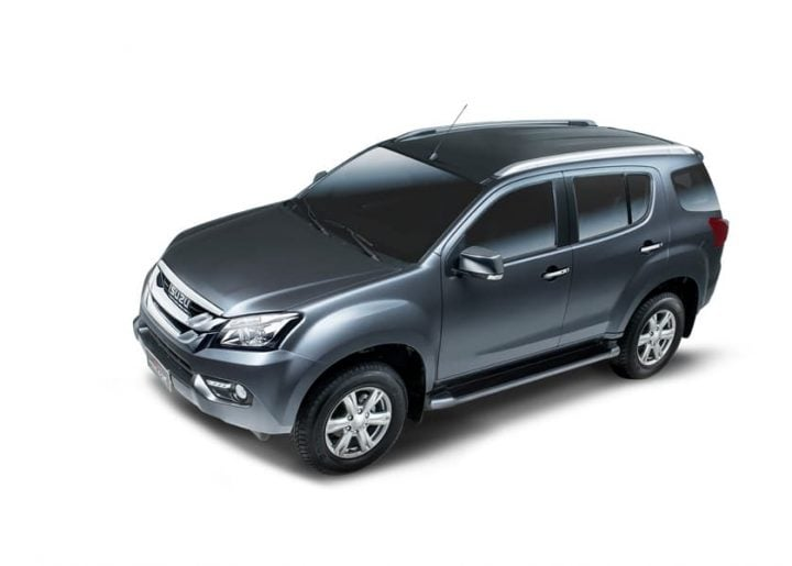 upcoming cars in india 2017 - isuzu-mu-x-official-images-front-side-top