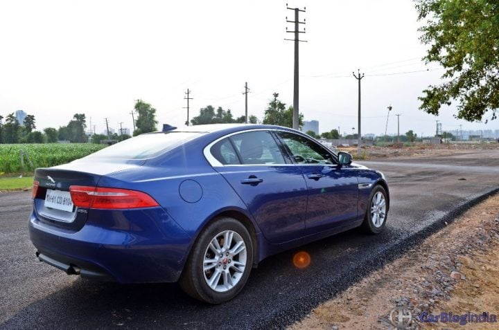 Jaguar XE Test Drive Review jaguar-xe-test-drive-review-rear-side