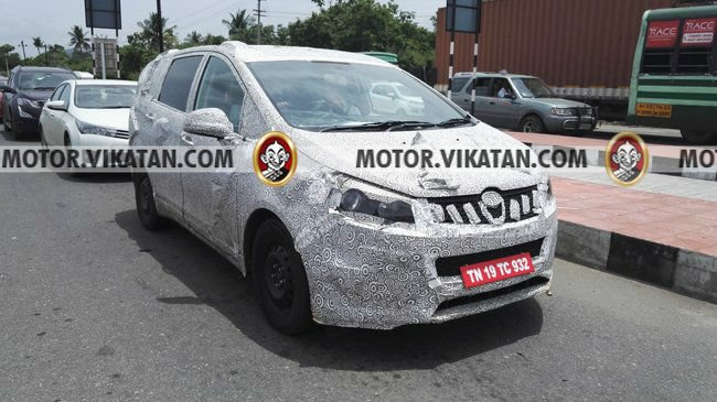 Mahindra TUV500 MPV Launch, Price, Specifications mahindra-mpv-spy-shots-front