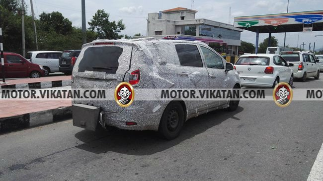 Mahindra TUV500 MPV Launch, Price, Specifications mahindra-mpv-spy-shots-rear-angle