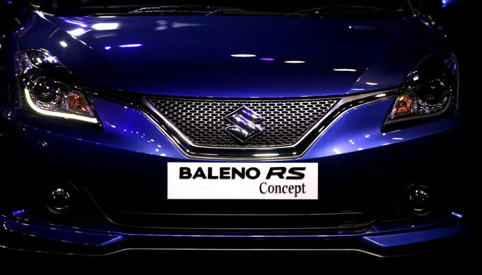 upcoming new cars in india 2017 maruti baleno rs india images front end