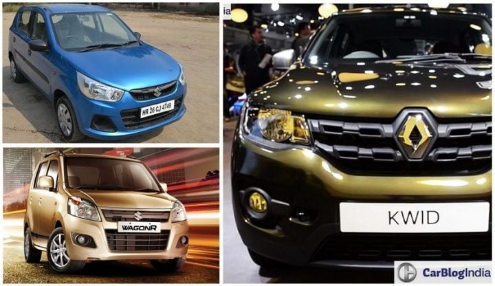 Renault Kwid AMT vs Maruti Alto K10 AMT vs Wagon R AMT Comparison