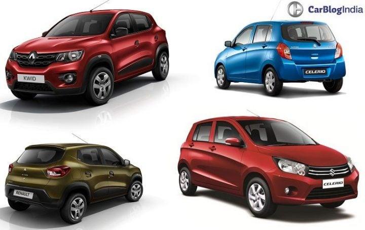 Renault Kwid AMT vs Maruti Celerio AMT Comparison Price, Specs