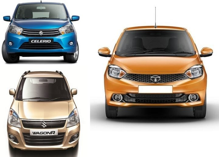 Tata Tiago AMT vs Maruti Celerio AMT vs Wagon R AMT Comparison