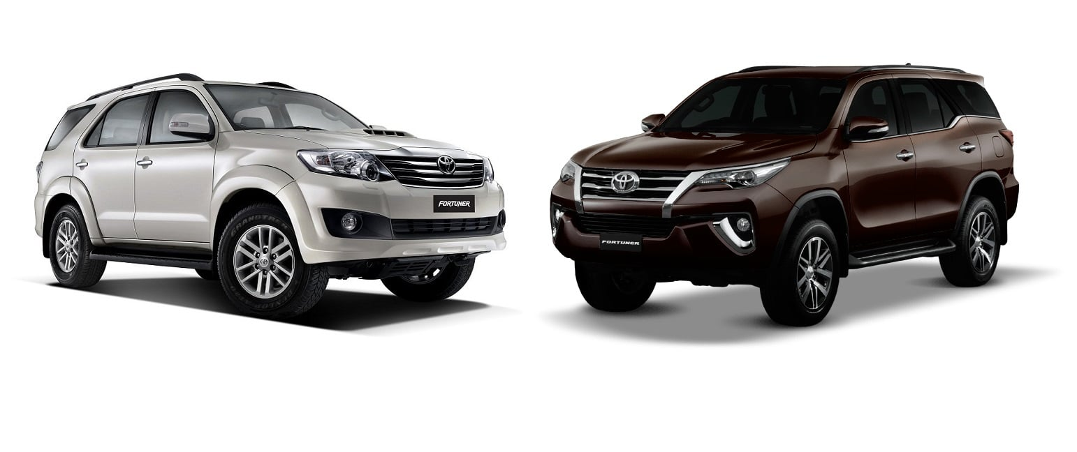 Toyota Fortuner Old Vs New Side Angle Carblogindia