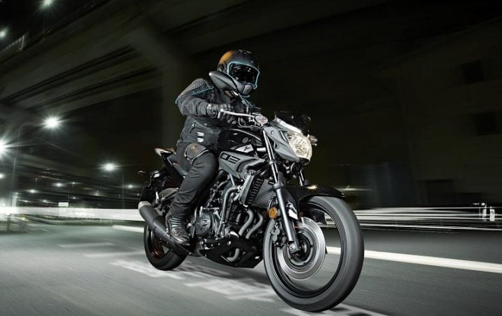 Yamaha MT 03 India Black Front Images