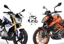 BMW G 310 R vs KTM 390 Duke