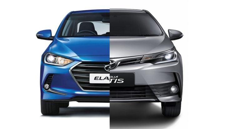 New 2016 Hyundai Elantra vs Toyota Corolla Altis