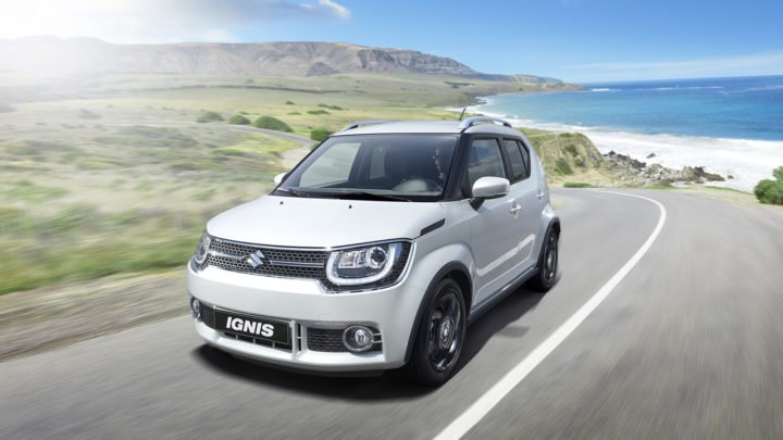 upcoming amt cars in India maruti-ignis-india-official-images-silver-front-angle-action-shot