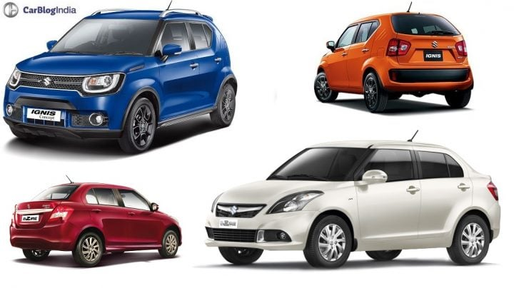 Maruti Ignis vs Dzire Comparison Price, Specs, Features, Design maruti-ignis-vs-dzire