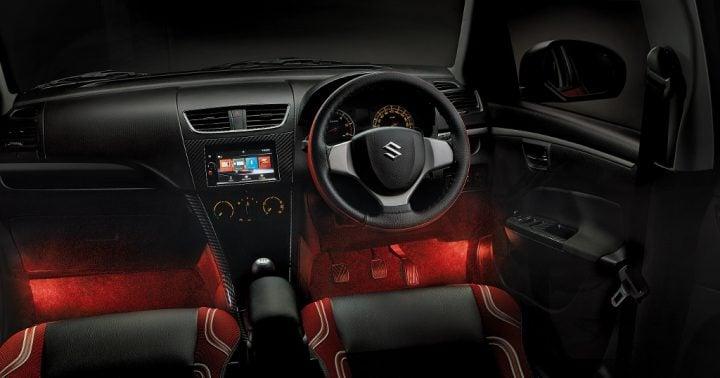 maruti swift deca limited edition images interior dashboard lighting