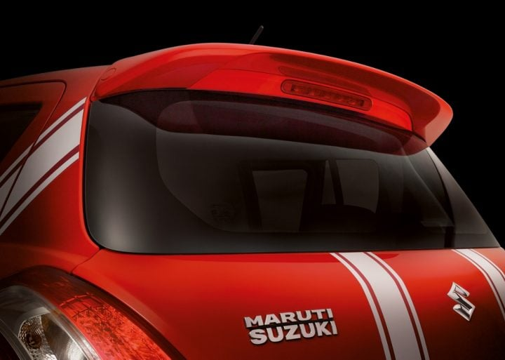 maruti swift deca limited edition images rear spoiler