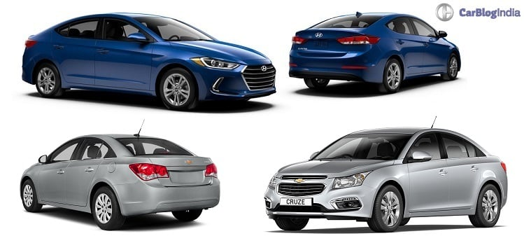 New 2016 Hyundai Elantra vs Chevrolet Cruze
