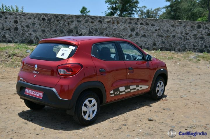 Renault Kwid 1000cc Test Drive Review, Mileage, Specifications renault-kwid-1000cc-test-drive-review-rear-angle