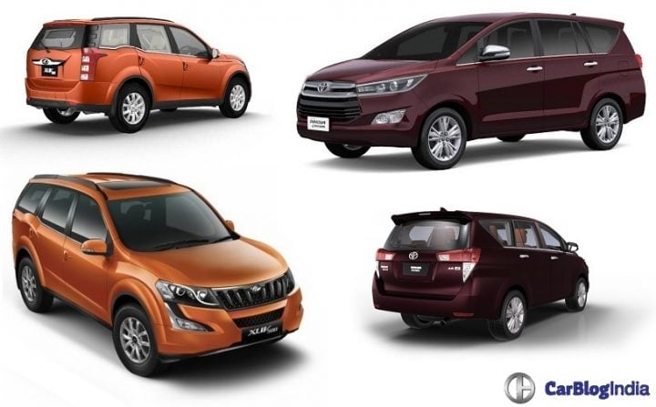 Toyota Innova Crysta vs Mahindra XUV500 Comparison of Price, Specs toyota-innova-crysta-vs-mahindra-xuv500