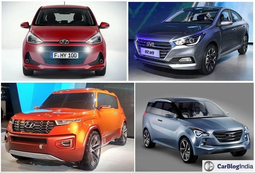 Upcoming New Hyundai Cars in India in 2017 2018  Hyundai Launches