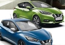 2017 nissan micra blue green colours