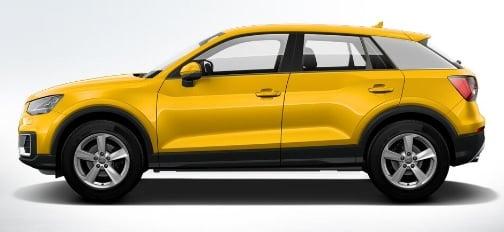 2017 Audi Q2 India Official Images Colour Vegas Yellow