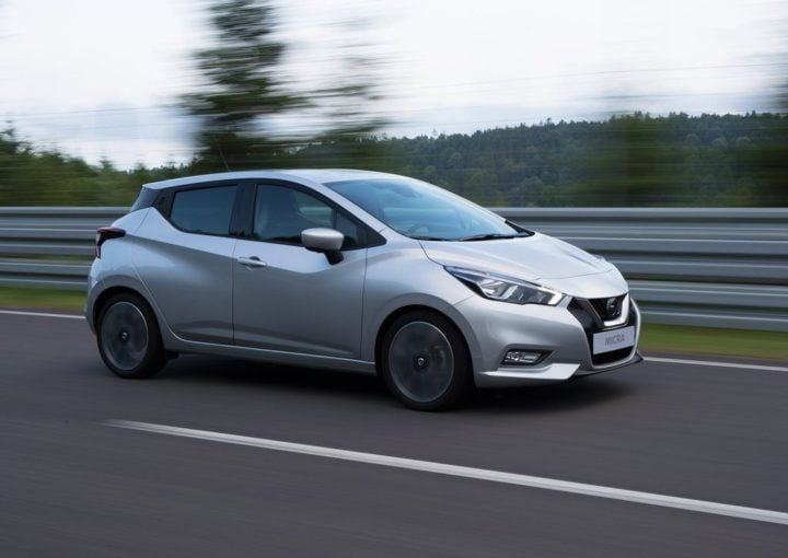 New Nissan Micra 2017 India Launch Date, Price, Specifications, Mileage 2017-nissan-micra-official-images-action-shot-front-side