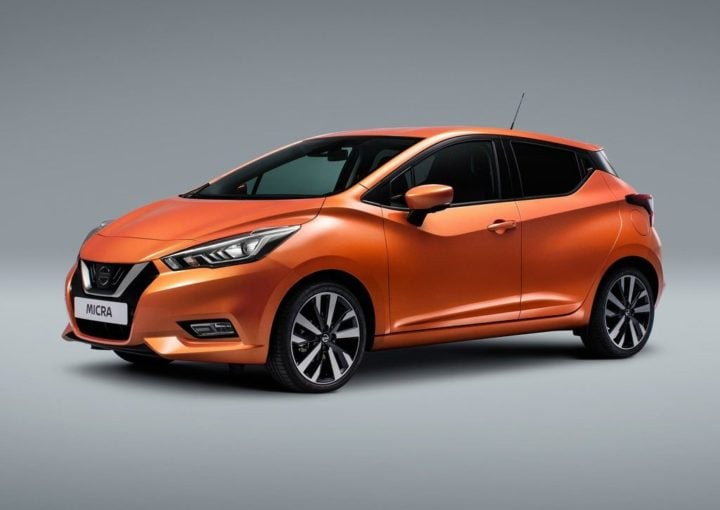 New Nissan Micra 2017 India Launch Date, Price, Specifications, Mileage 2017-nissan-micra-official-images-orange-front-side